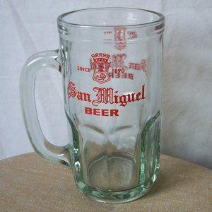 San Miguel Glass Beer Mug